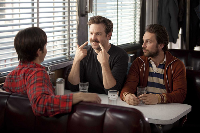 With Friends Like These...: Justin Long as Garrett, Jason Sudeikis as Box, and Charlie Day as Dan in 'Going the Distance'