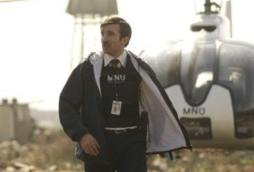 Alien Bureaucrat: Sharlto Copley in 'District 9'