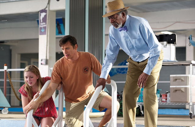 Cozi Zuehlsdorff, Harry Connick Jr., Morgan Freeman