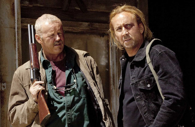 Man on the Run: David Morse (Webster) helps out Nicolas Cage (Milton) in 'Drive Angry 3D'
