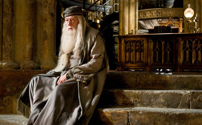 Michael Gambon as Professor Dumbledore in 'Harry Potter and the Half-Blood Prince'
