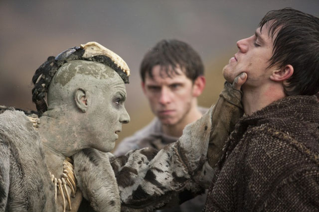 Enemy Mine: Tahar Rahim (left), Jamie Bell (center) and Channing Tatum in 'The Eagle'