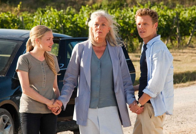 True Romance: Amanda Seyfried as Sophie, Vanessa Redgrave as Claire and Christopher Egan as Charlie in 'Letters to Juliet'