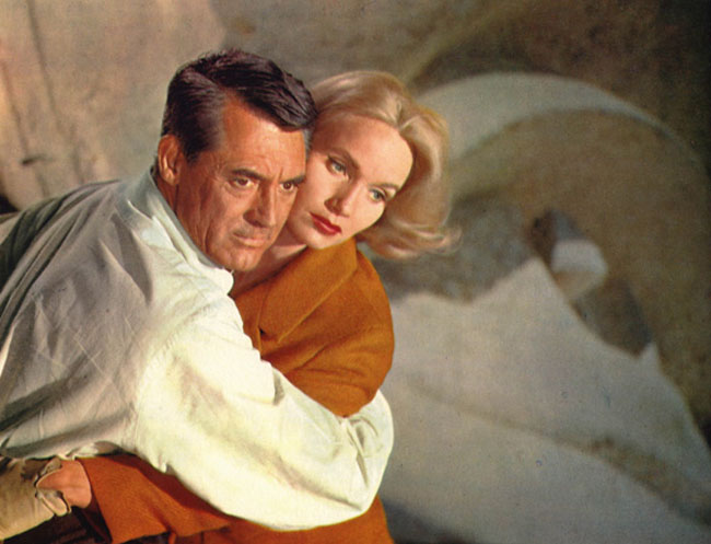 Cliffhanger: Cary Grant and Eva Marie Saint in Alfred Hitchcock's 'North by Northwest'