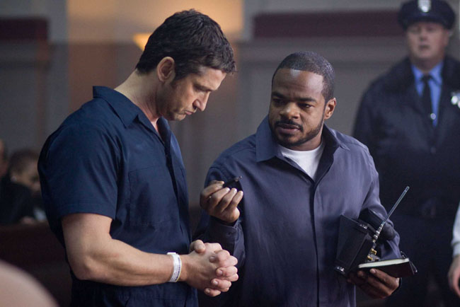 F. Gary Gray (right) Directs Gerald Butler in 'Law Abiding Citizen'
