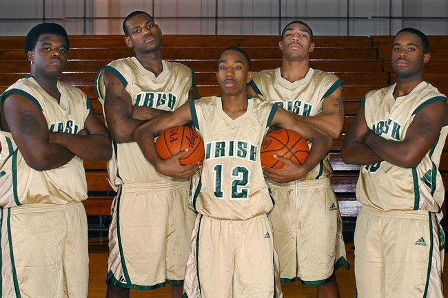 Back in the Day: Sian Cotton, LeBron James, Dru Joyce III, Romeo Travis and Willie McGee from 'More Than a Game''