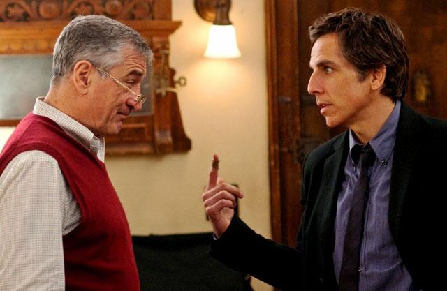 Jack (Robert De Niro) Gets the Wrong Finger from Greg (Ben Stiller) in 'Little Fockers'