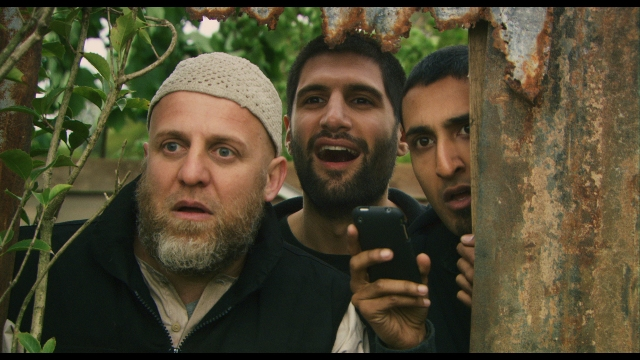 Nigel Lindsay, Kayvan Novak and Riz Ahmed star in Chris Morris's Four Lions.