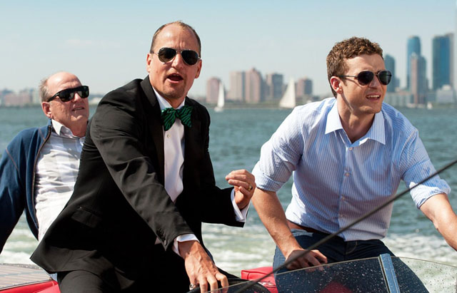 Sea Men: Dad (Richard Jenkins), Tommy (Woody Harrelson) and Justin Timberlake in 'Friends with Benefits'