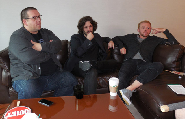 Nick Frost, Edgar Wright, Simon Pegg
