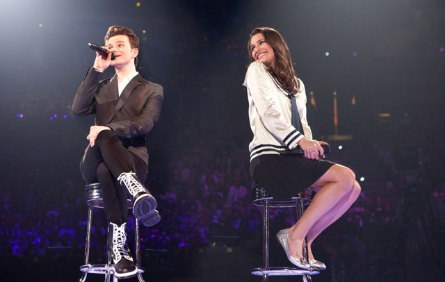 Chris Colfer and Rachel (Lea Michele) Channel the Past in 'Glee: The 3D Concert Movie'