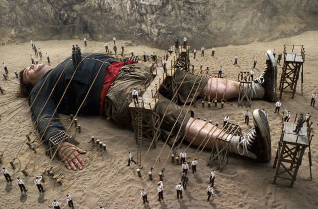 Wrapped up for the Holidays: Jack Black in 'Gulliver's Travels'