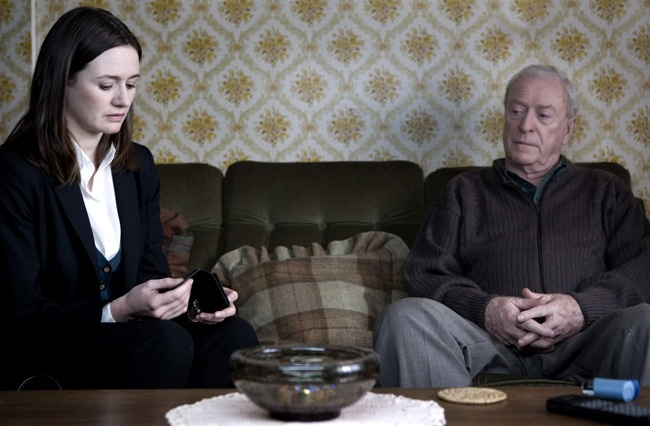 Both Sides Now: Emily Mortimer as Detective Frampton and Michael Caine in 'Harry Brown'