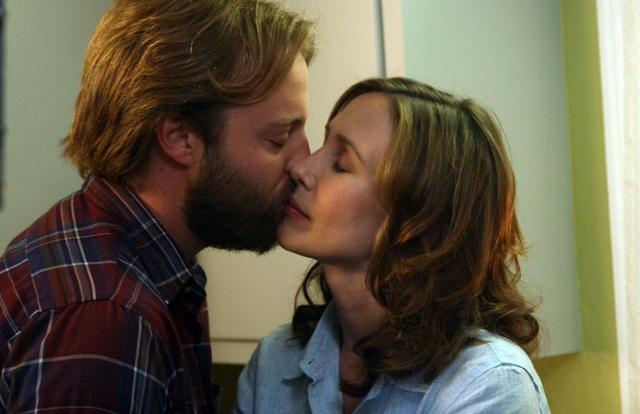 Joshua Leonard as Corinne's Husband Ethan and Vera Farmiga in 'Higher Ground'