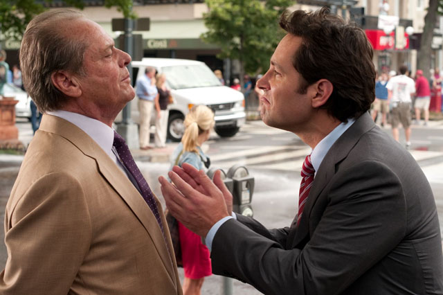 So Grows the Twig: Jack Nicholson as Charles the Father and Paul Rudd as George the Son in 'How Do You Know'