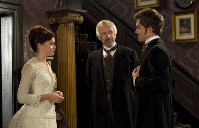 Felicity Jones (Emily), Jonathan Pryce (Dr. Robert) and  Hugh Dancy in 'Hysteria'