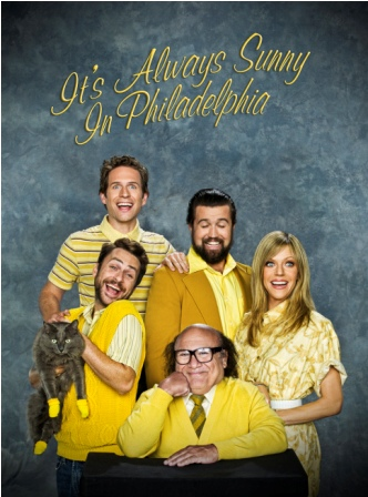 Clockwise From Top: Glenn Howerton, Rob McElhenney, Kaitlin Olson, Danny Devito and Charlie Day.
