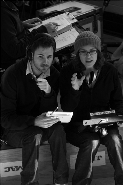 Ryan Fleck and Anna Boden on the set of their new film, It's Kind of a Funny Story.