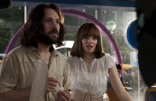 Bromance: Paul Rudd as Ned and Elizabeth Banks as Miranda in 'Our Idiot Brother'