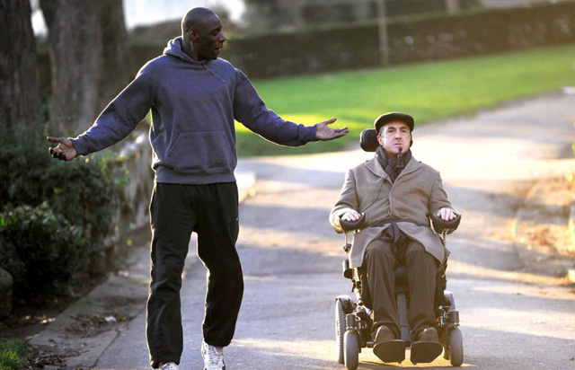 Francois Cluzet (Philippe) and Omay Sy (Driss) in 'The Intouchables'