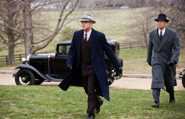 On the Case: Leonardo DiCaprio as Hoover and Armie Hammer as Clyde Tolson in 'J. Edgar'
