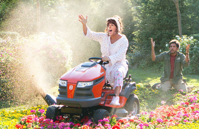 It's Funny Because She Can't Mow: Adam Sandler as Jill and Eugenio Derbez as Felipe in 'Jack and Jill'