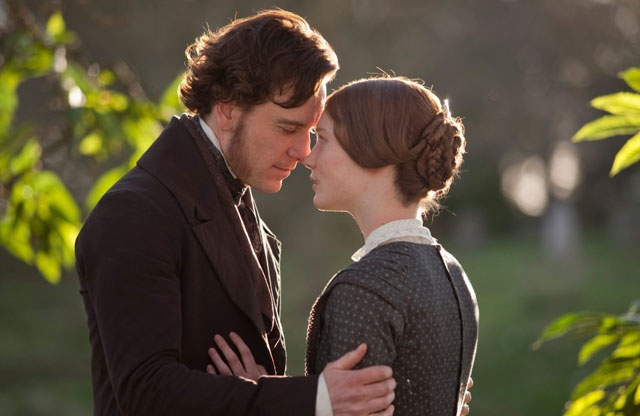Cliff Notes Twosome: Michael Fassbinder as Edward Rochester and Mia Wasikowska in 'Jane Eyre'