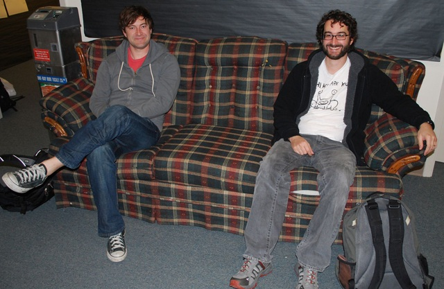 Writers, Directors, Brothers: Mark and Jay Duplass on set for 'Jeff, Who Lives at Home'