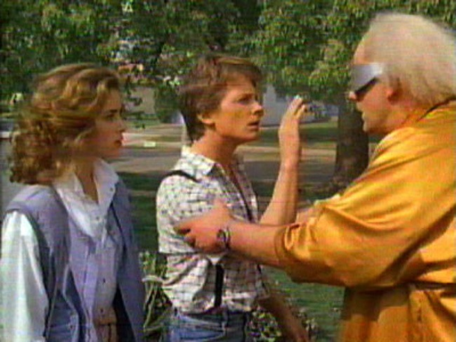 The Power of Love: Claudia Wells, Michael J. Fox and Christopher Lloyd in 'Back to the Future'