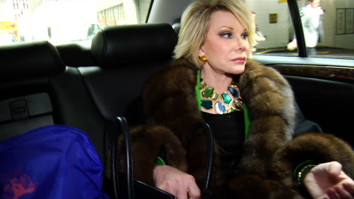 Ricki Stern and Annie Sundberg follow Joan Rivers through a year of her crazy life in Joan Rivers: A Piece of Work.