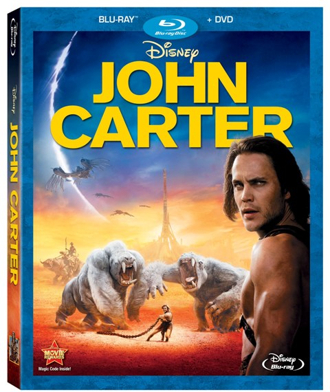 John Carter was released on Blu-ray and DVD on June 5, 2012
