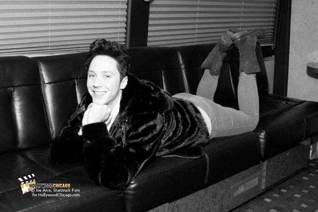 Be Good: Johnny Weir Strikes a Pose in Chicago on January 19th, 2011