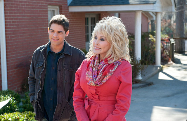 Grandmama: Jeremy Jordan with Dolly Parton in 'Joyful Noise'