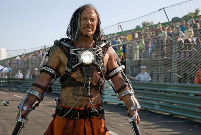 Electric: Mickey Rourke as Russian Villain Ivan Vanko in 'Iron Man 2'