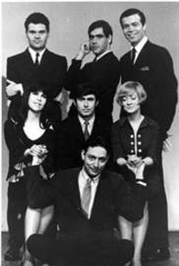 Second City Days: Young Robert Klein (center top) next to Fred Willard (left)