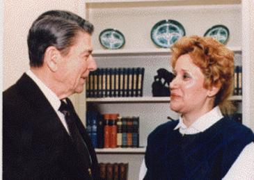 Kathy DiFiore, Ronald Reagan