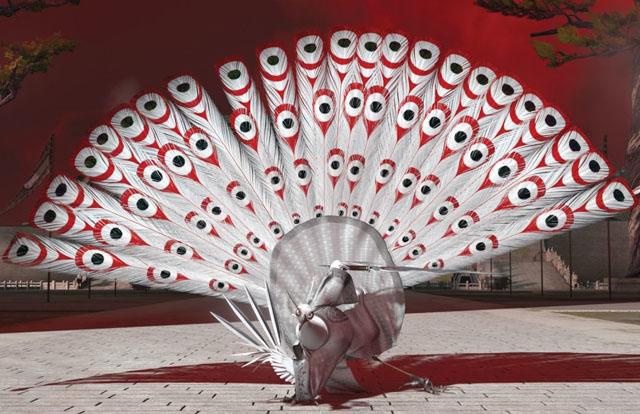 Peacock Strut: Lord Shen (Gary Oldman) in 'Kung Fu Panda 2'