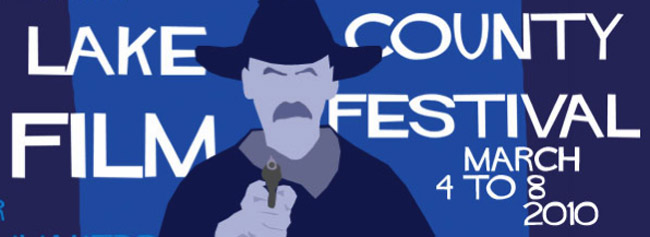 The 2010 Logo of the Lake County Film Festival.