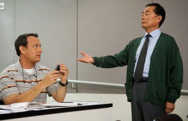 Warped Speed: Tom Hanks and George Takei (Dr. Matsutani) in 'Larry Crowne'