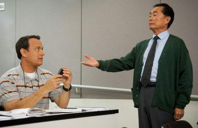 Warped Speed: Tom Hanks and George Takei (Dr. Matsutani) in 'Larry Crowne'