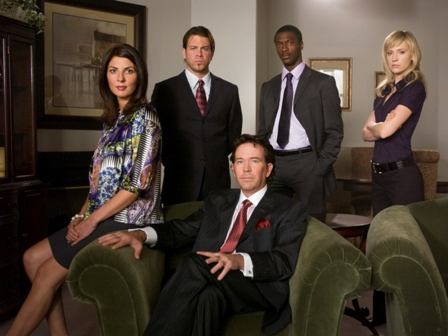 Gina Bellman, Christian Kane, Timothy Hutton, Aldis Hodge and Beth Riesgraf.