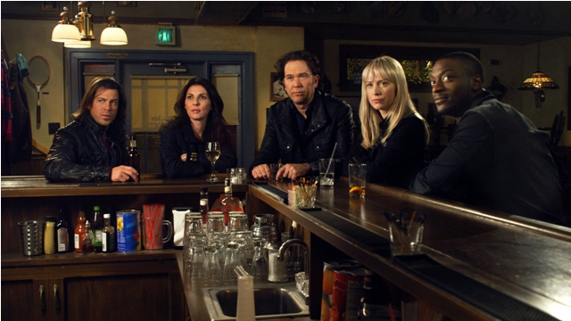 Christian Kane, Gina Bellman, Timothy Hutton, Beth Riesgraf and Aldus Hodge star in TNT's hit series LEVERAGE.