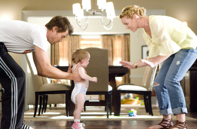We Are Family: Josh Duhamel as Messer,  Baby Sophie and Katherine Heigl as Holly in 'Life As We Know It'