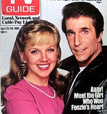 Linda Purl and Henry Winkler (Fonzie) in 'Happy Days'