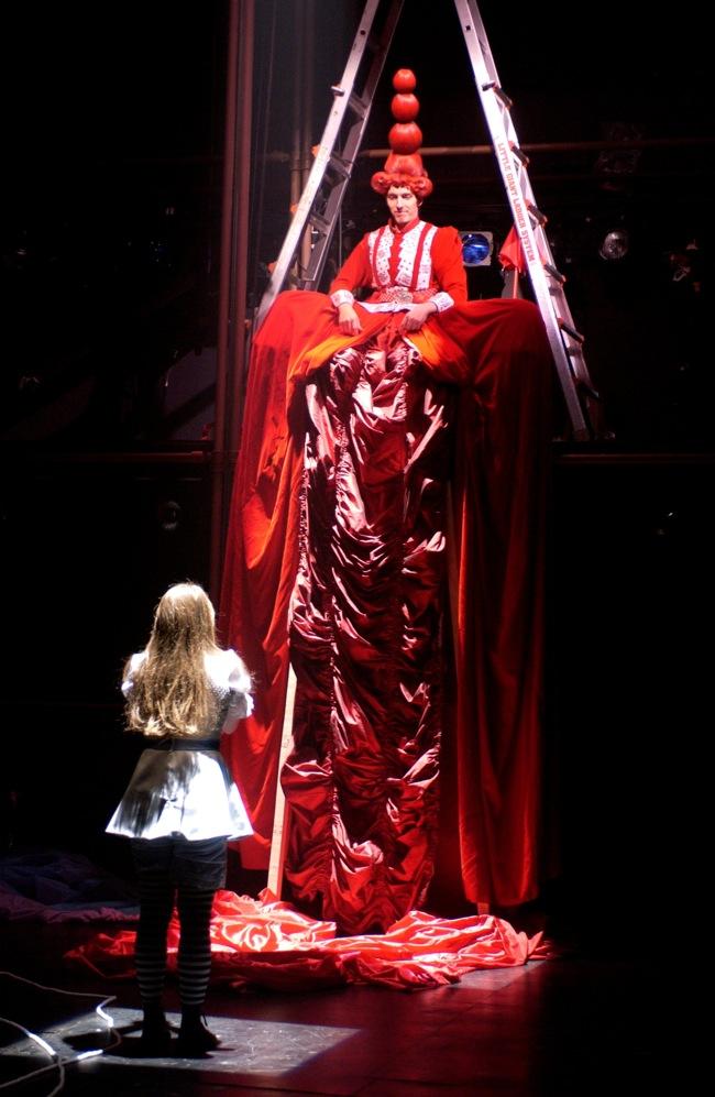 """Alice meets the Red Queen in """"Lookingglass Alice"""""""" target="""