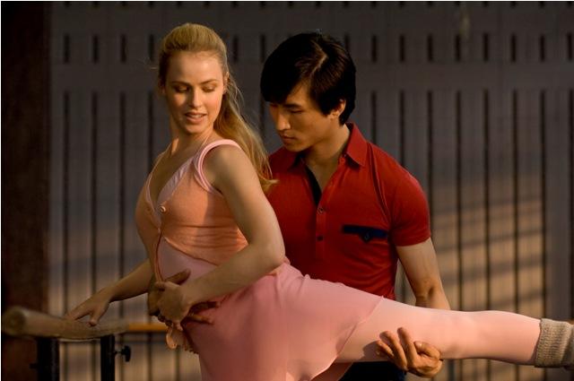 Amanda Schull as Liz and Chi Cao as Li in MAO'S LAST DANCER.