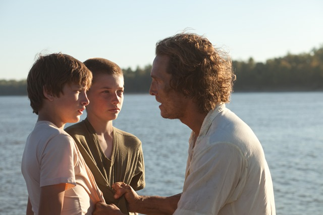 Tye Sheridan, Jacob Lofland and Matthew McConaughey star in Jeff Nichols's Mud.
