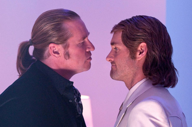 Profiles in Discourage: Val Kilmer as Dieter and Will Forte as MacGruber in 'MacGruber'