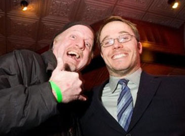 Patrick McDonald and Mike McNamara at the Midwest Indie