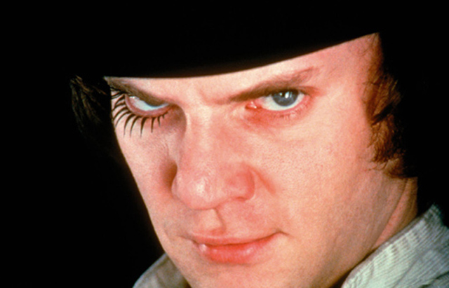 The Eyes Have It: Malcolm McDowell as Alex DeLarge in Stanley Kubrick's 'A Clockwork Orange'